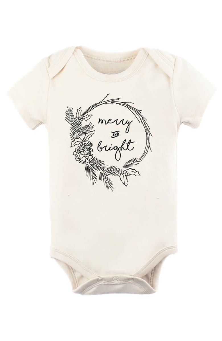 TENTH & PINE Merry & Bright Organic Cotton Bodysuit, Main, color, 900