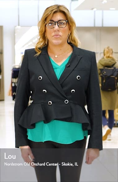 Daisy Print Side-Button Midi Skirt, sales video thumbnail