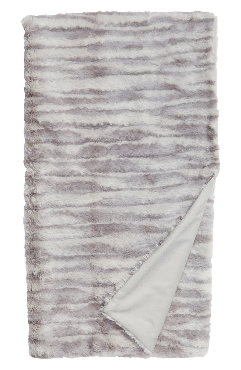 NORDSTROM AT HOME Soft Ribbed Plush Throw, Main, color, 020