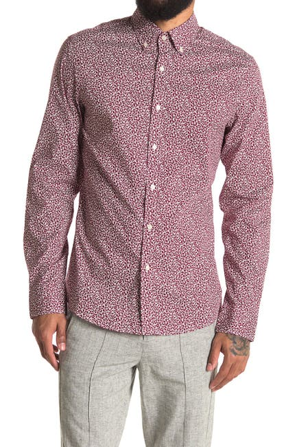 Image of Michael Kors Trim Stretch Fit Sport Shirt