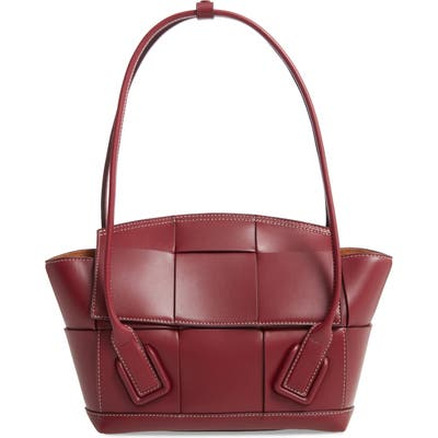 Bottega Veneta The Arco 48 Intrecciato Leather Top Handle Bag - Burgundy