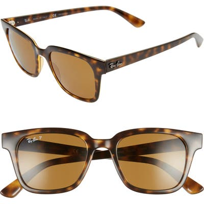 Ray-Ban Wayfarer 51mm Polarized Sunglasses - Havana/ Polar Brown