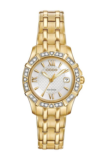 Image of Citizen Women's Diamond Accented Eco Drive Watch, 26mm - 0.0053 ctw