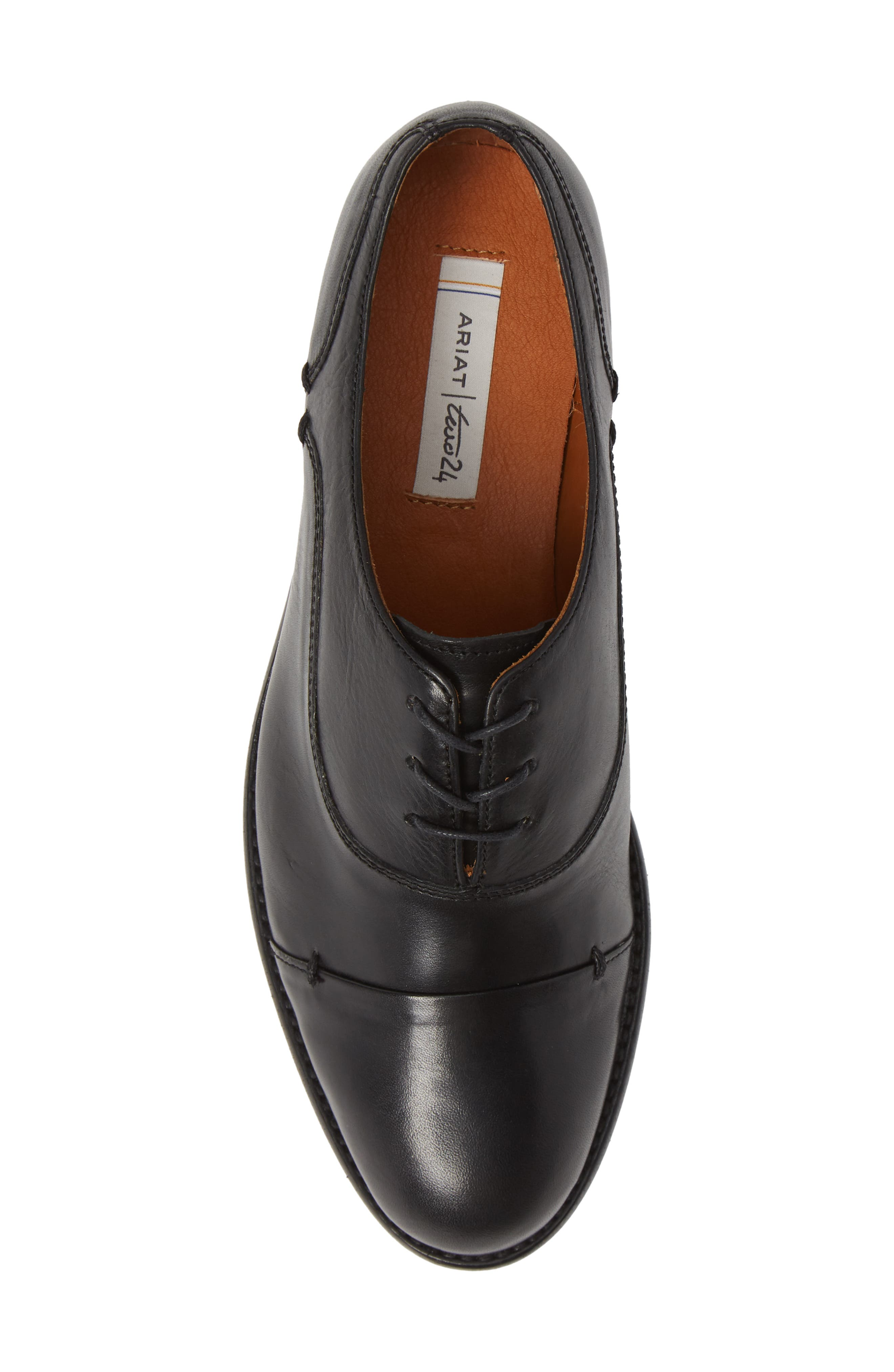 ,                             by Ariat Austen Optional Lace-Up Oxford,                             Alternate thumbnail 5, color,                             BLACK LEATHER