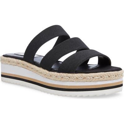 Steven New York Lancey Platform Slide Sandal- Black