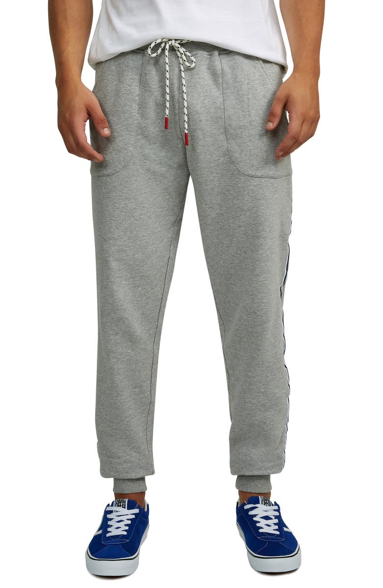 PSYCHO BUNNY Crestfield Taped Sweatpants, Main, color, 062 HEATHER GREY