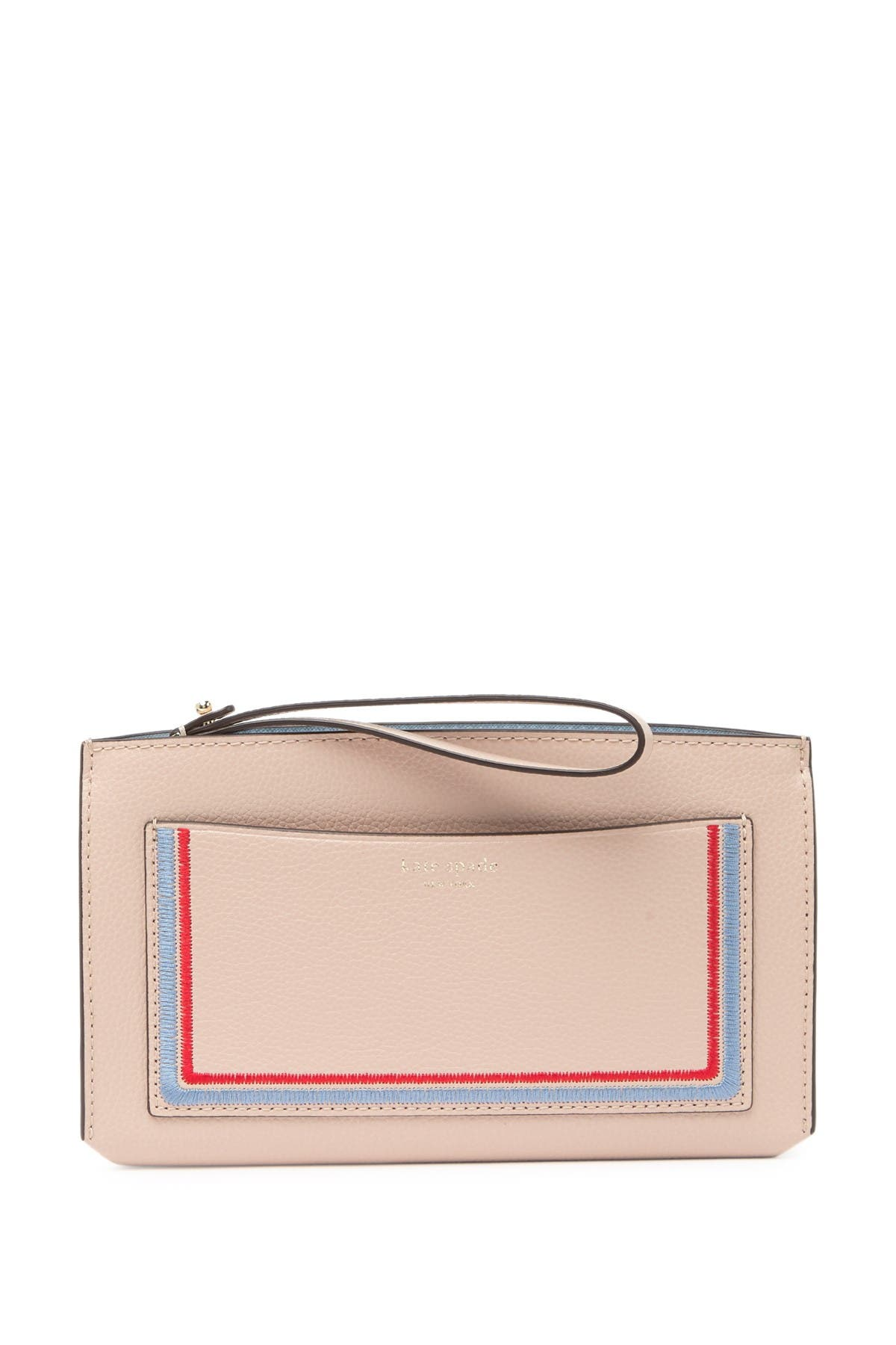 Image of kate spade new york leather eva embroidered wallet clutch