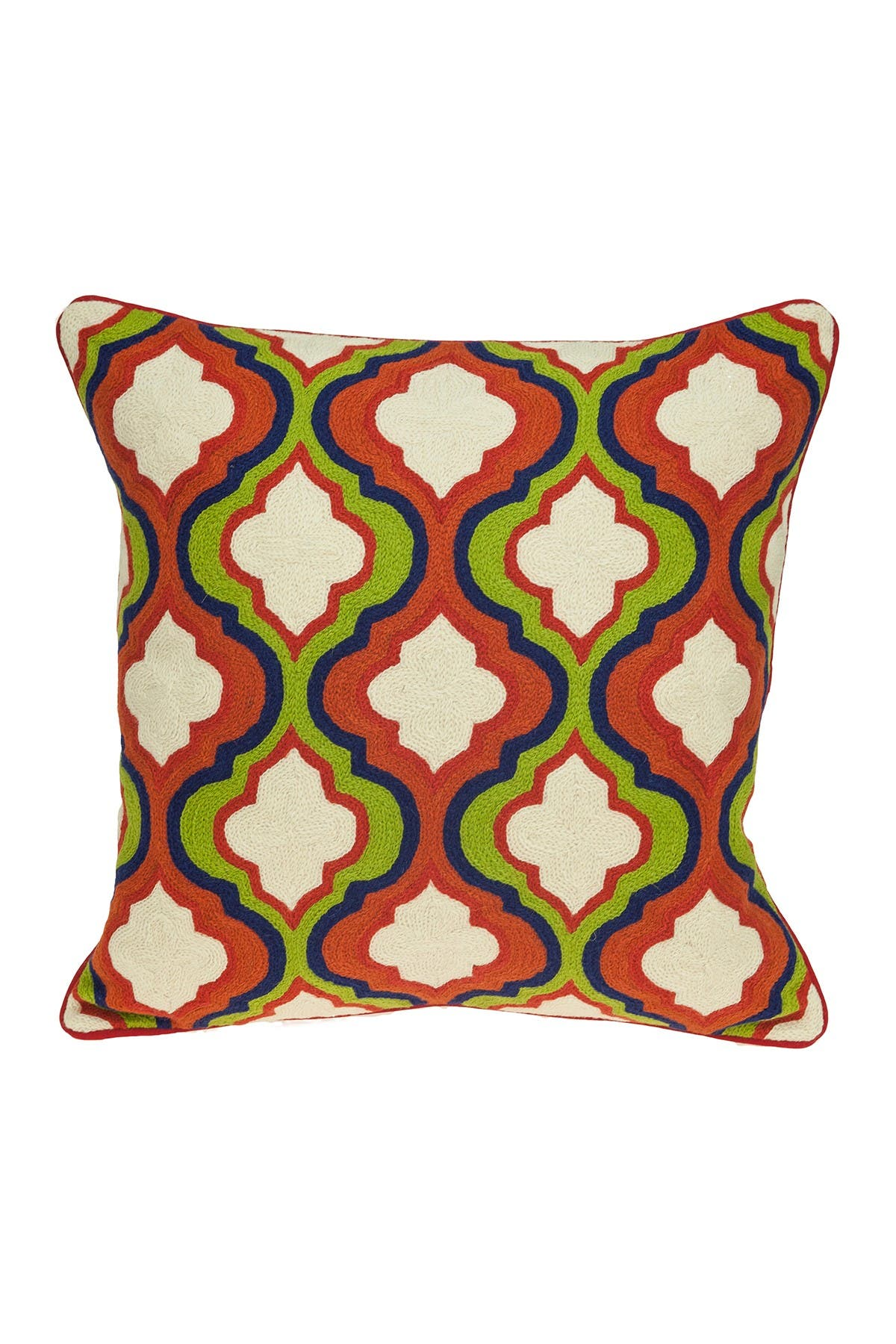 "Image of Parkland Collection Handmade Manak Transitional Pillow - 20"" x 20"" - Multi"