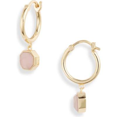 Gorjana Power Stone Charm Huggie Earrings