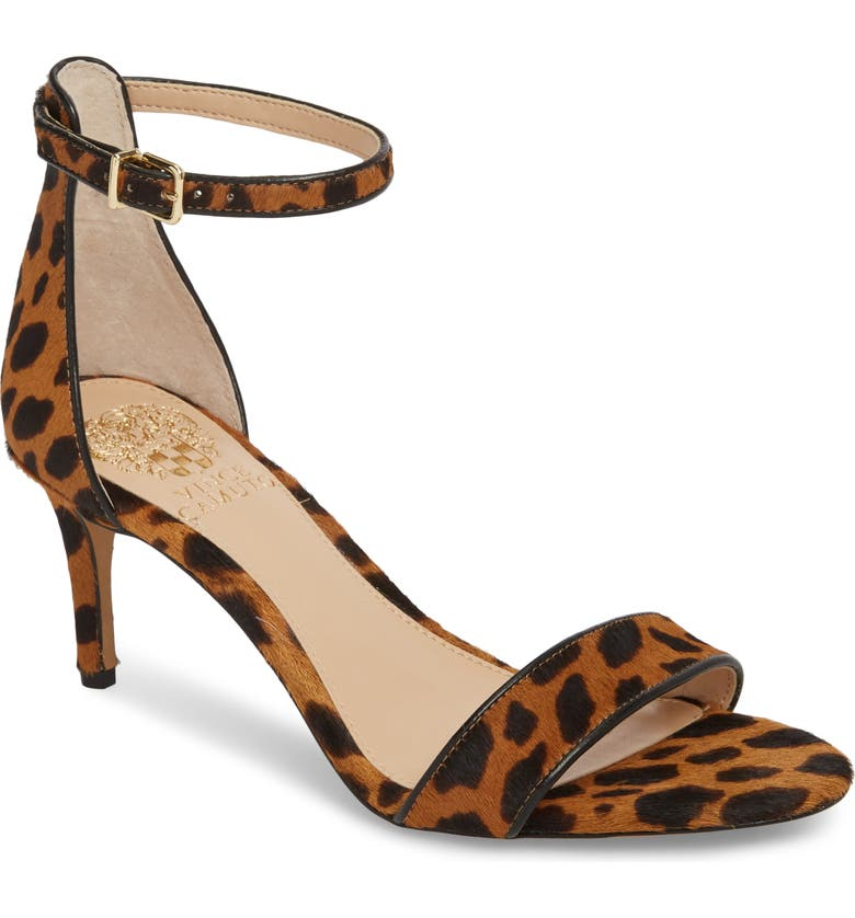 VINCE CAMUTO Sebatini Genuine Calf Hair Sandal, Main, color, LEOPARD CALF HAIR