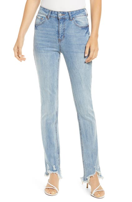 Image of Tinsel Ripped Fray Hem Crop Bootcut Jeans