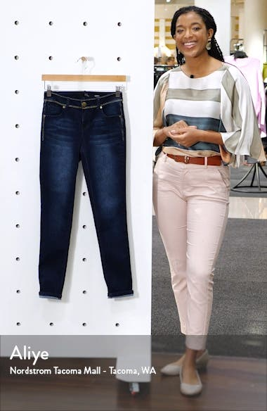 Gold Stitch Ankle Skinny Jeans, sales video thumbnail