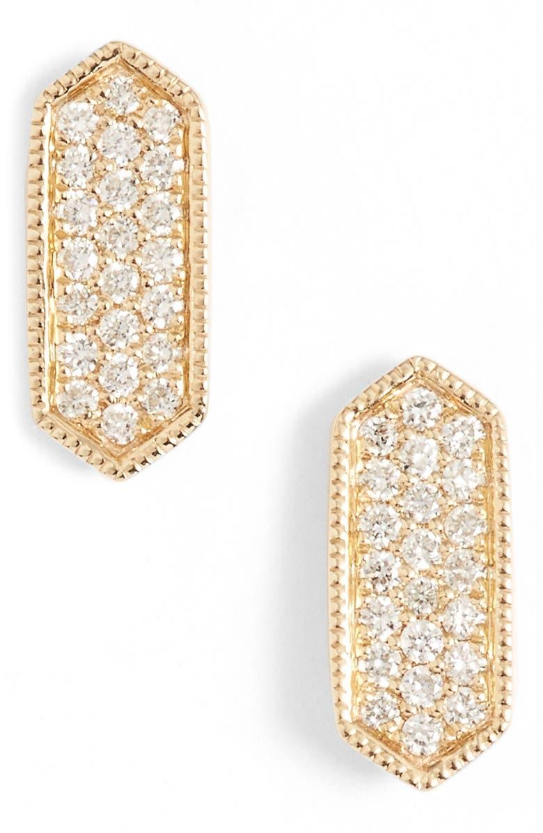 DANA REBECCA DESIGNS 'Cynthia Rose' Diamond Pavé Stud Earrings, Main, color, 710