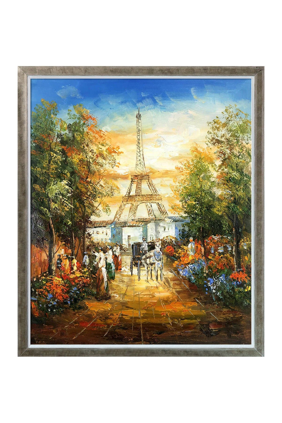 """Image of Overstock Art Gardens Near The Eiffel with Champagne Silhouette Frame - 22.4"""" x 26.4"""""""