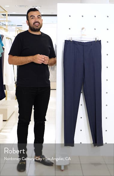 Flat Front Solid Wool Dress Pants, sales video thumbnail