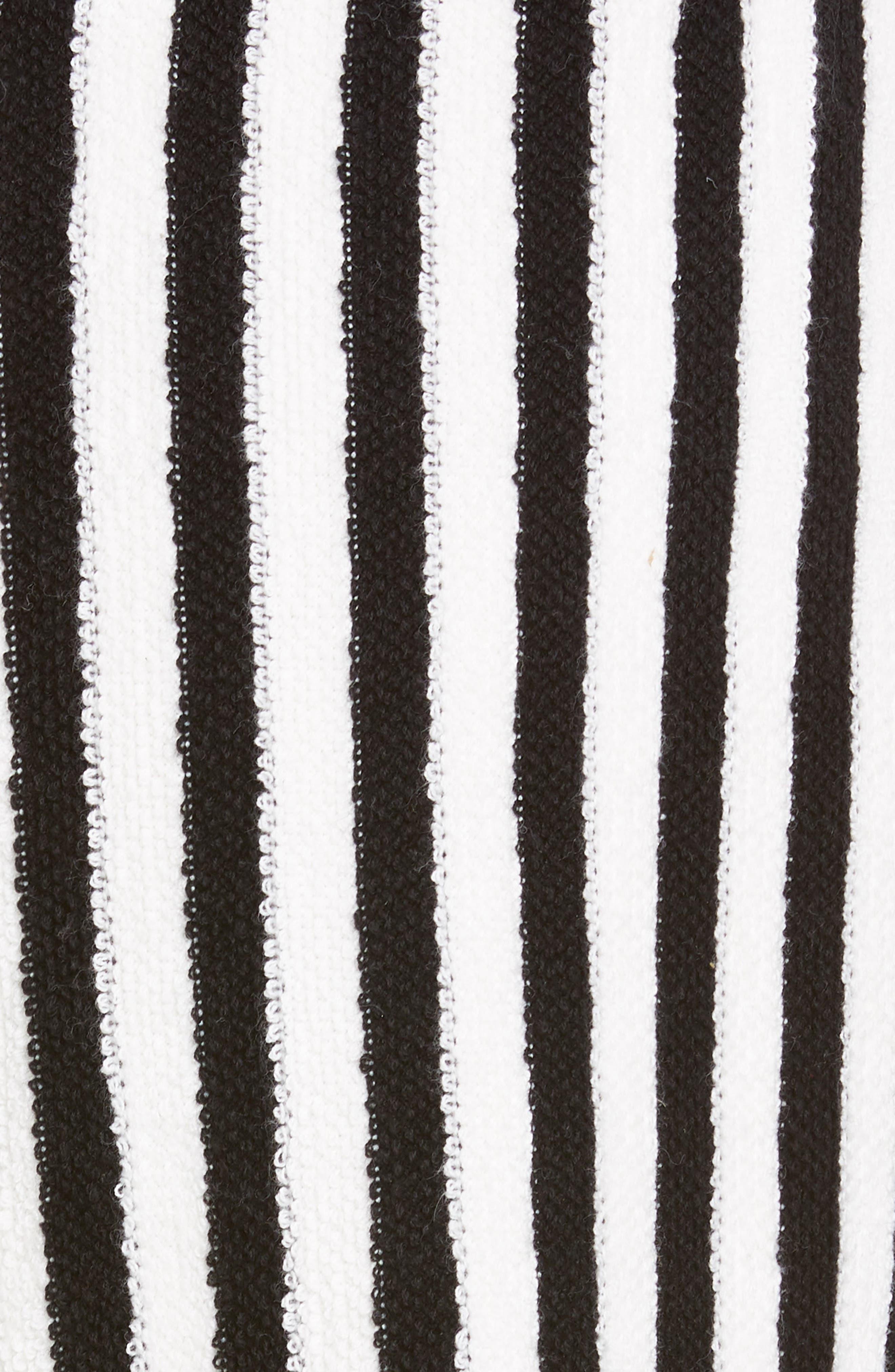 ,                             Striped Cotton & Cashmere Shorts,                             Alternate thumbnail 5, color,                             WHITE/ BLACK COMBO