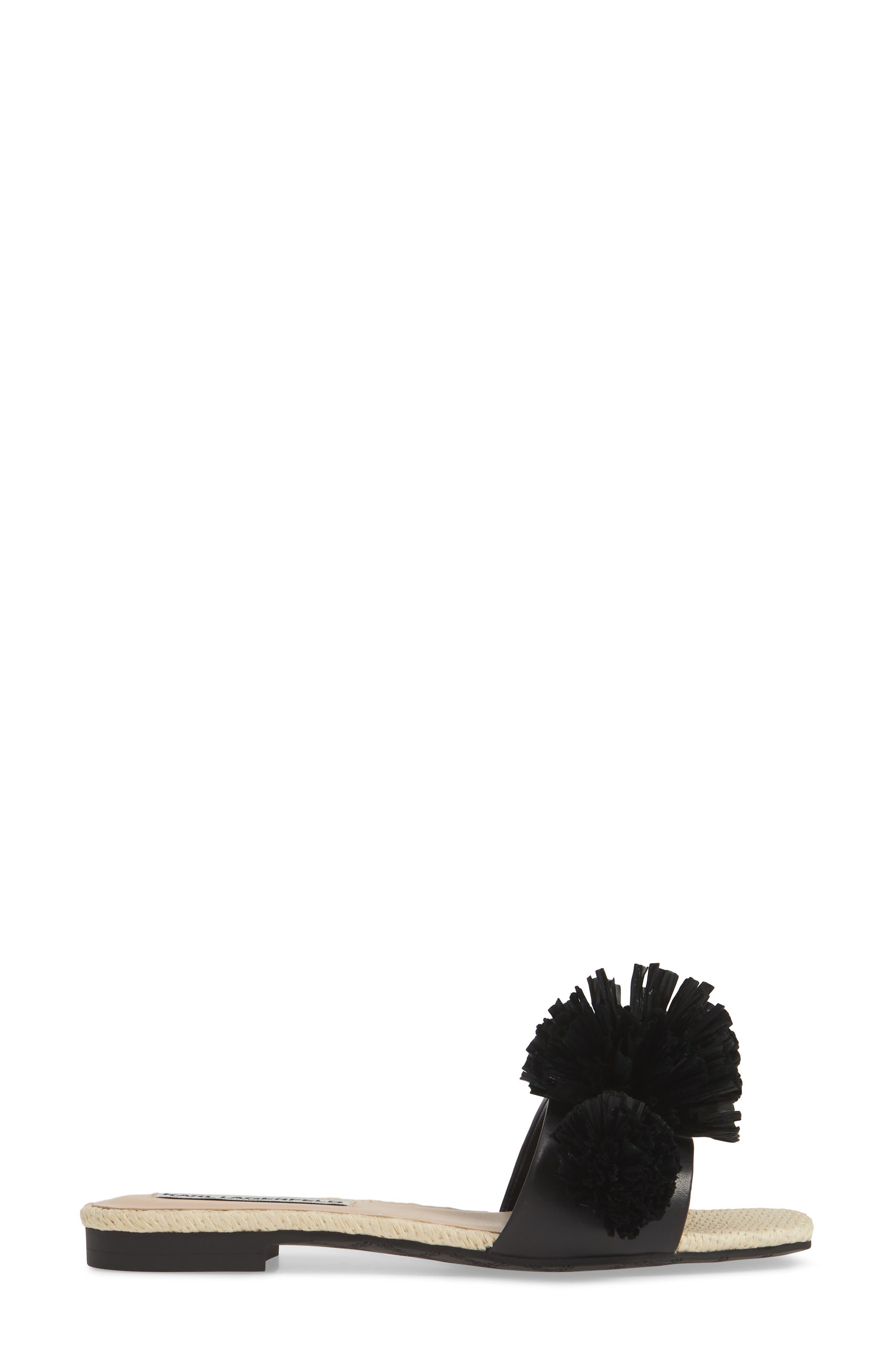 ,                             Rainey Slide Sandal,                             Alternate thumbnail 3, color,                             BLACK LEATHER