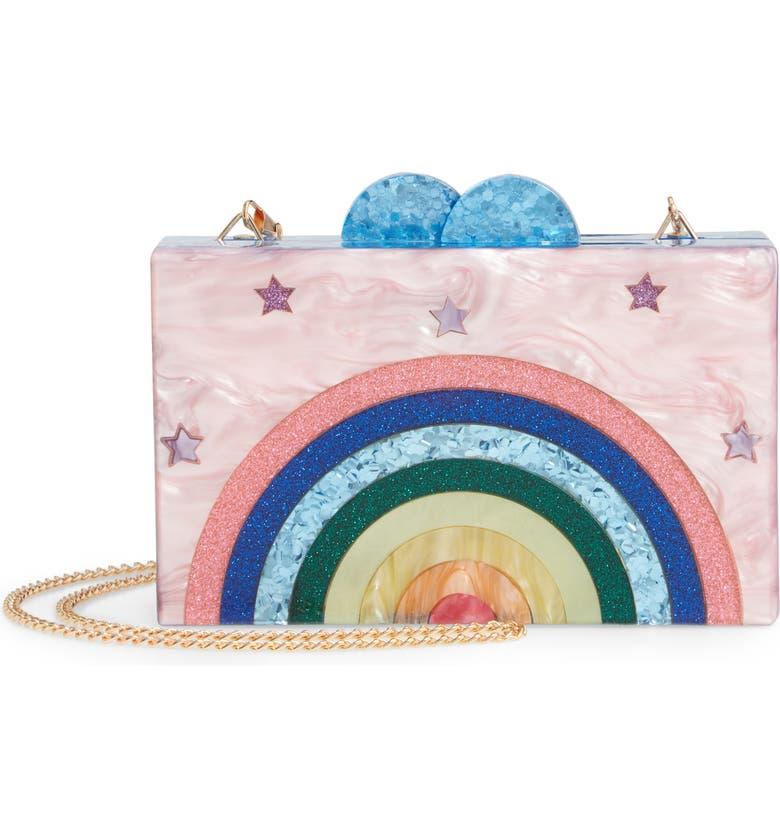 BARI LYNN Happy Box Shoulder Bag, Main, color, MULTI