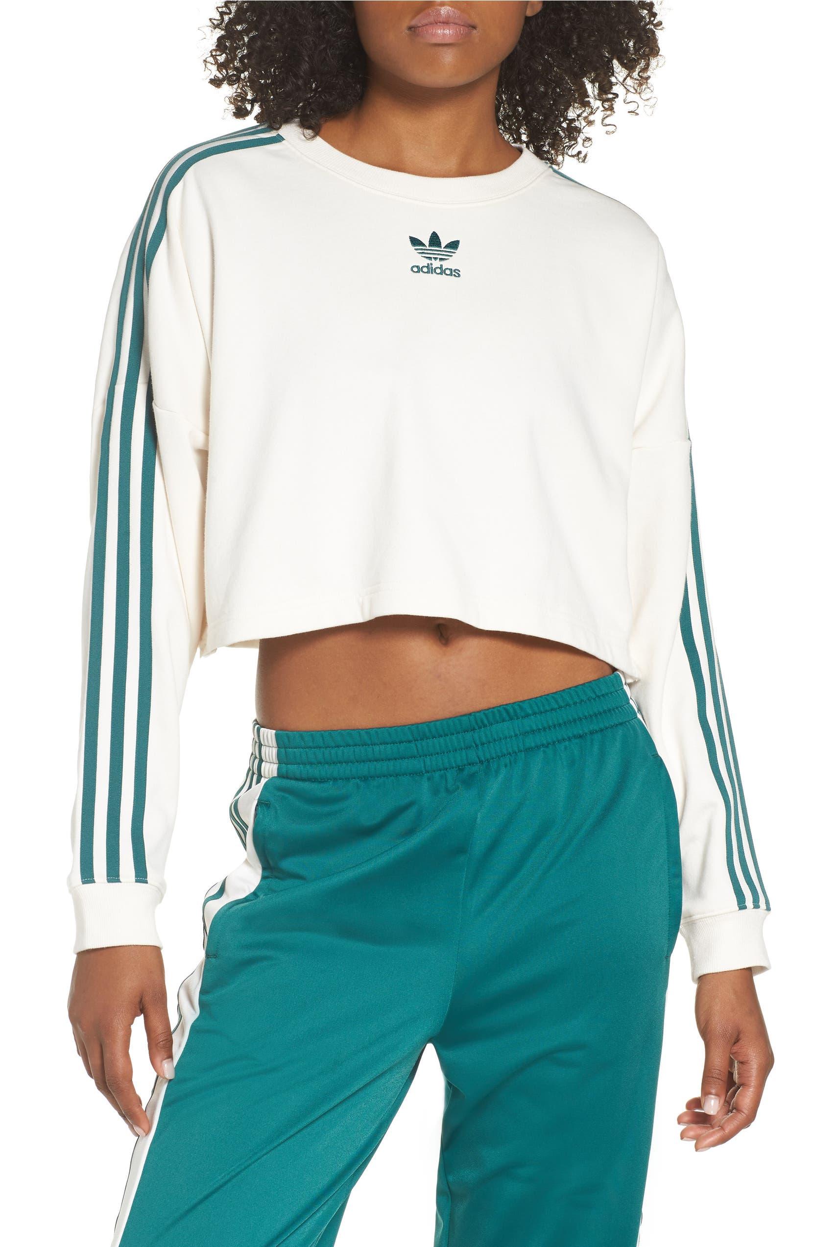 finest selection 37a1c 55430 adidas originals adibreak cropped sweatshirt   Nordstrom