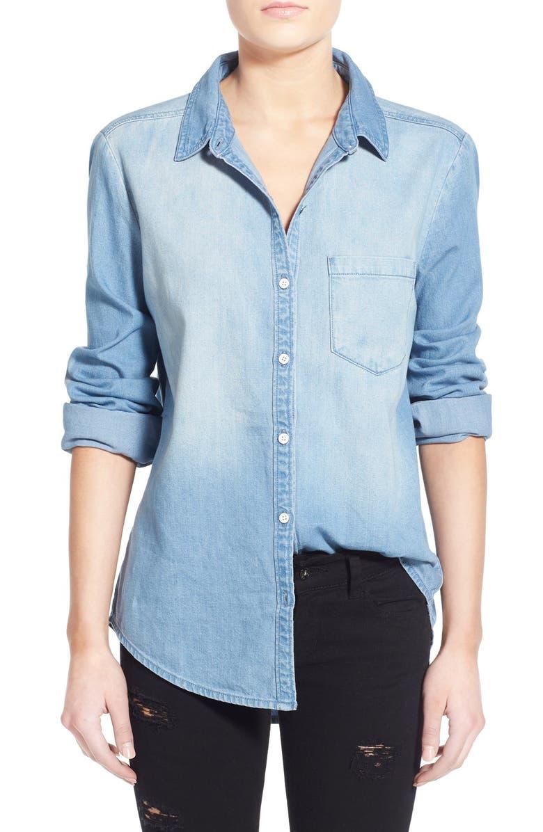 BP. Cotton Chambray Shirt, Main, color, 410