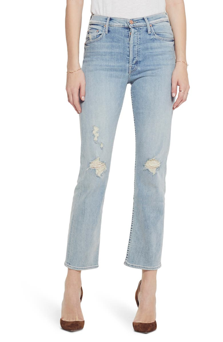 1bc2b4c5b1 The Tomcat High Waist Ripped Crop Straight Leg Jeans, Main, color, SUPER  BLAST