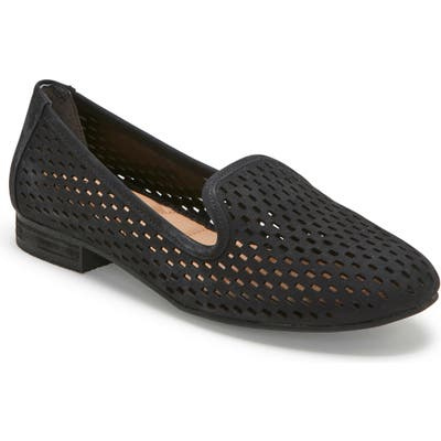 Me Too Yane Perforated Loafer, Black