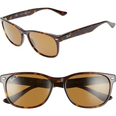 Ray-Ban Wayfarer 57Mm Polarized Sunglasses - Havana