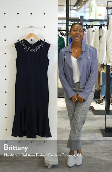 Crystal Detail Flounce Hem Cocktail Dress, sales video thumbnail