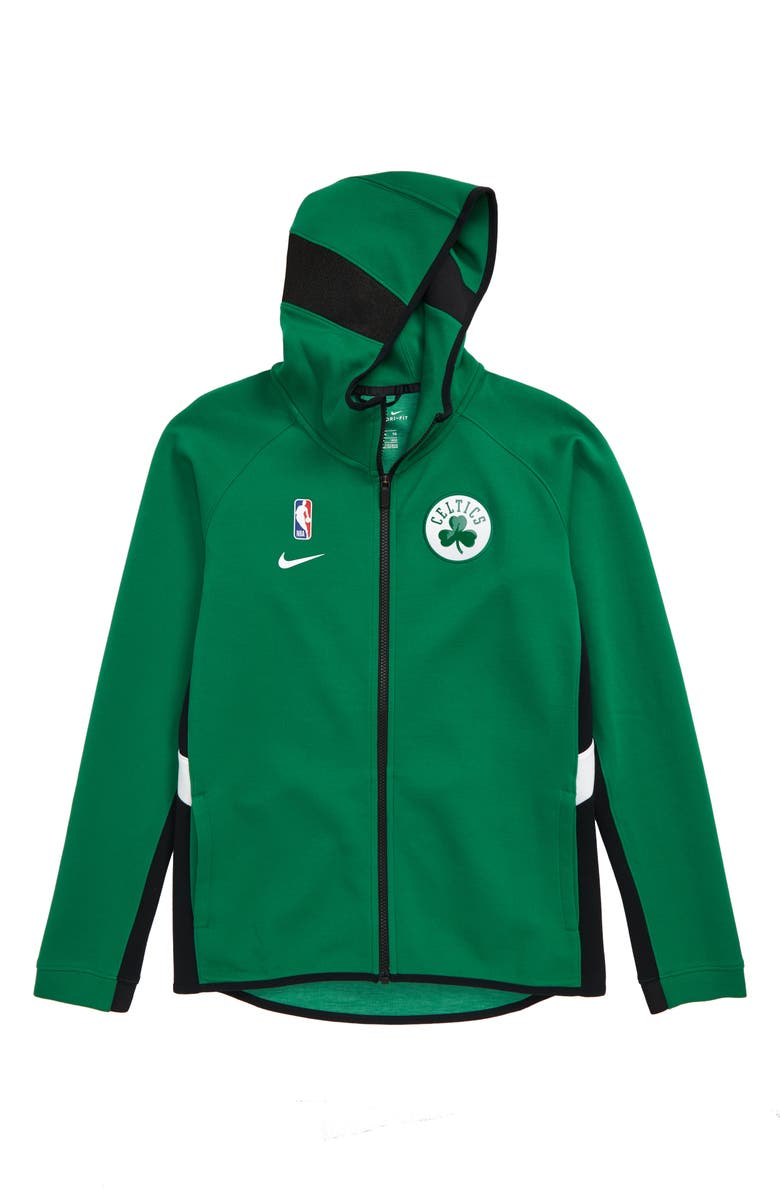 NIKE NBA Boston Celtics Dry Zip-Up Hoodie, Main, color, CLOVER