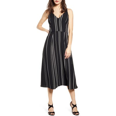 Love, Nickie Lew Stripe A-Line Dress, Black