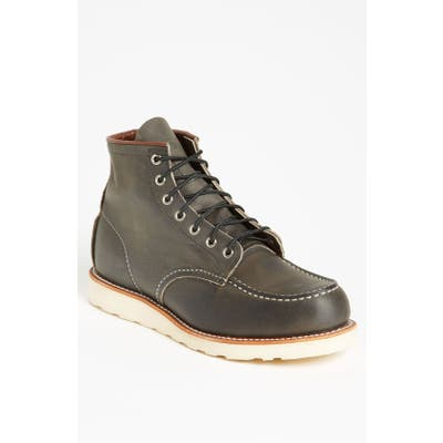 Red Wing 6 Inch Moc Toe Boot, Black