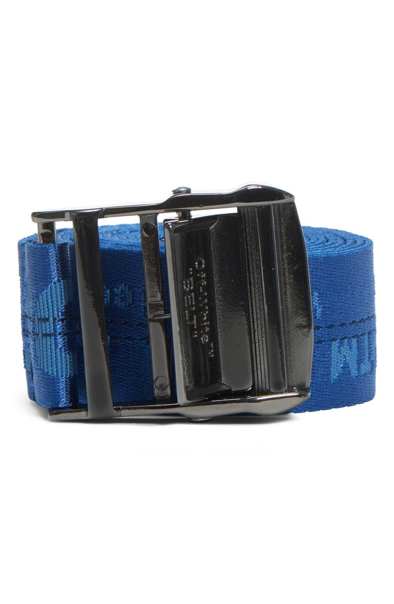 OFF-WHITE Classic Industrial Belt, Main, color, BLUE BLUE