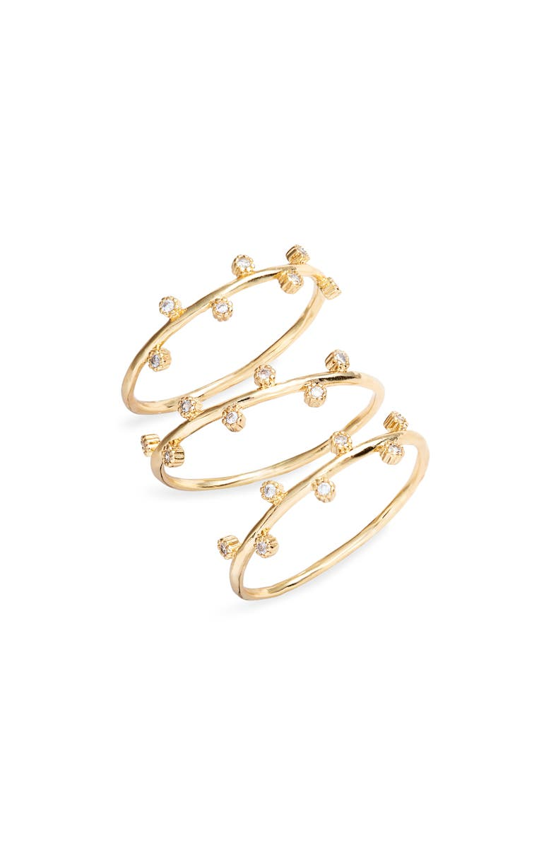 GORJANA Eloise Set of 3 Rings, Main, color, GOLD