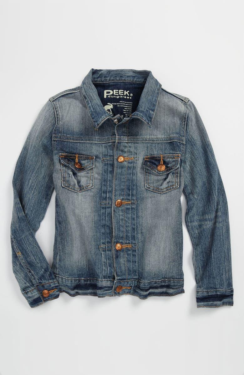PEEK AREN'T YOU CURIOUS Peek 'Wright' Denim Jacket, Main, color, 477