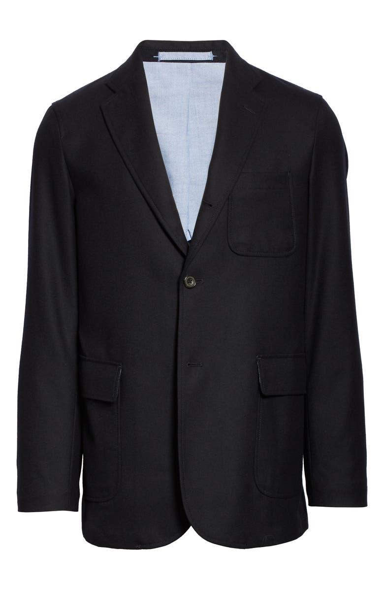 BEAMS PLUS 3B Wool Blend Flannel Jacket, Main, color, 410