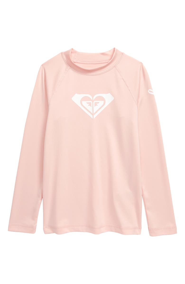 ROXY Wave Rider Long Sleeve Rashguard, Main, color, ENGLISH ROSE