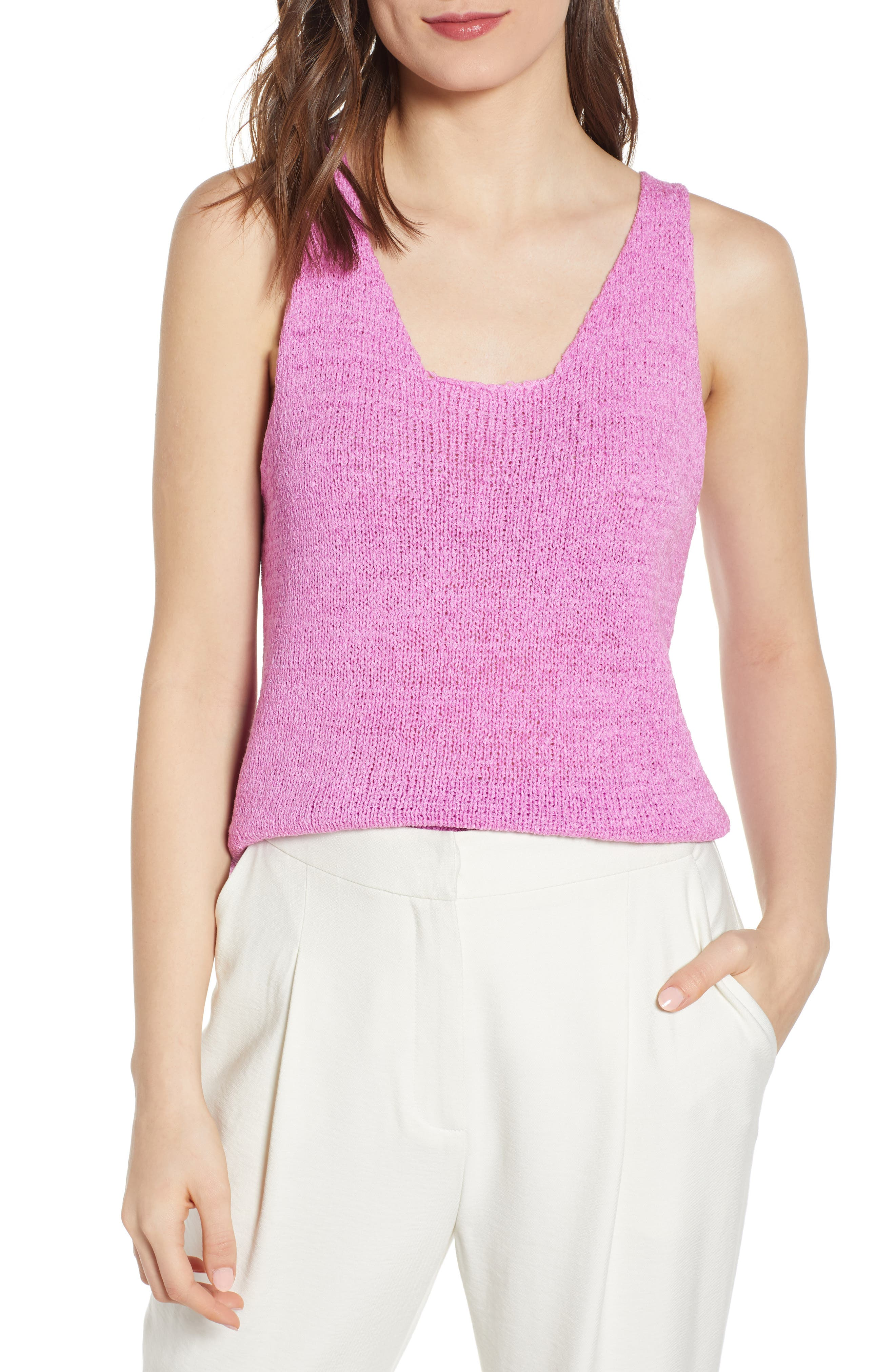 J.o.a. Knit Camisole, Pink