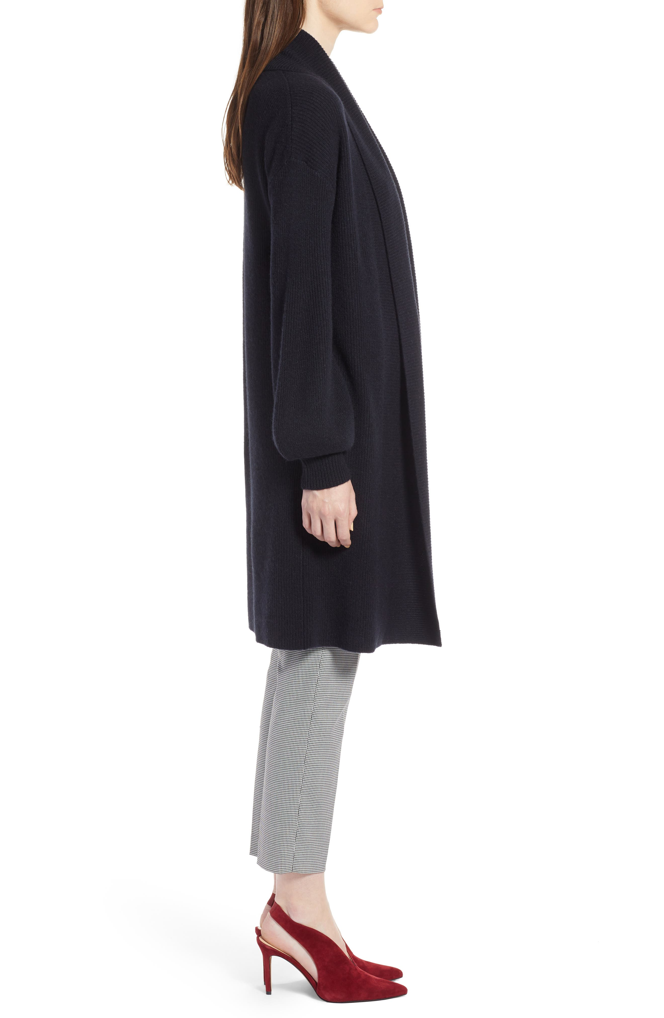 ,                             Blouson Sleeve Long Cashmere Cardigan,                             Alternate thumbnail 11, color,                             002