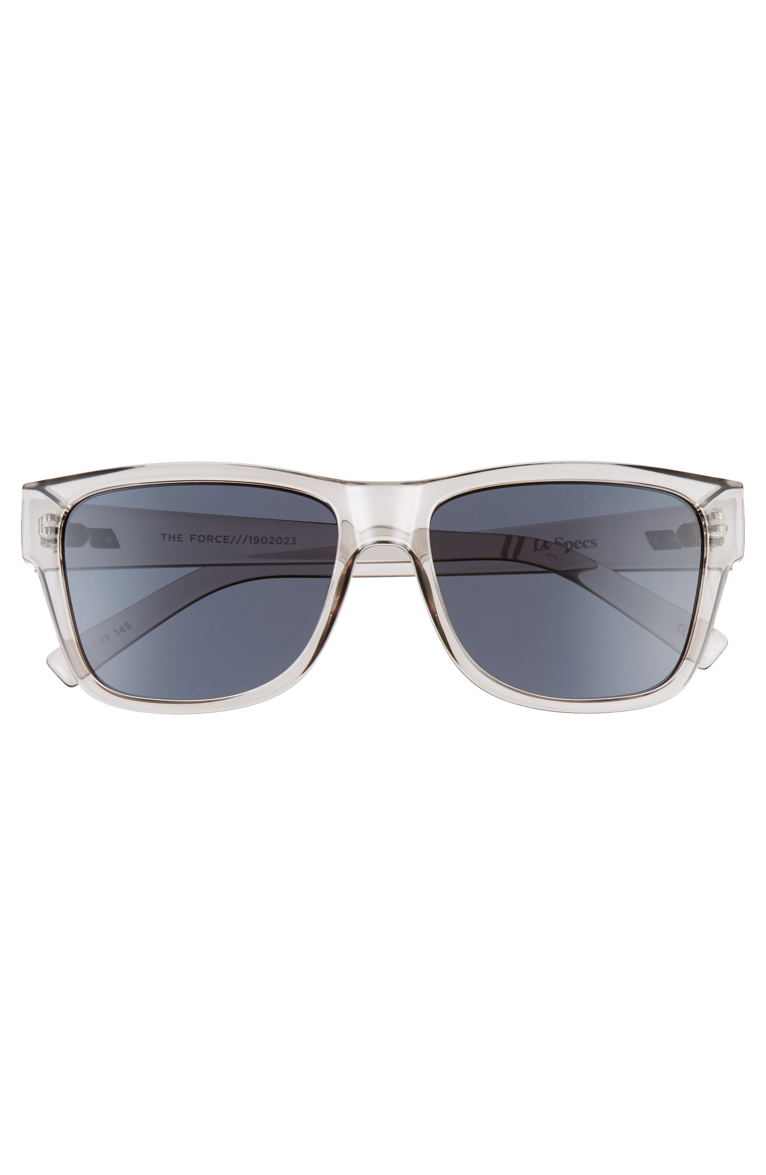,                             The Force 57mm Transparent Square Sunglasses,                             Alternate thumbnail 3, color,                             TRANSPARENT PEWTER/ SMOKE