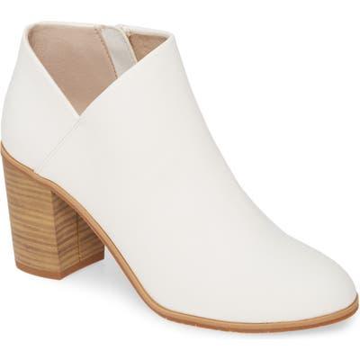 Bc Footwear Kettle Vegan Block Heel Bootie, White