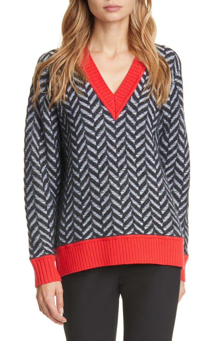 RAG & BONE Biata Wool & Cashmere Blend Sweater, Main, color, BLACK