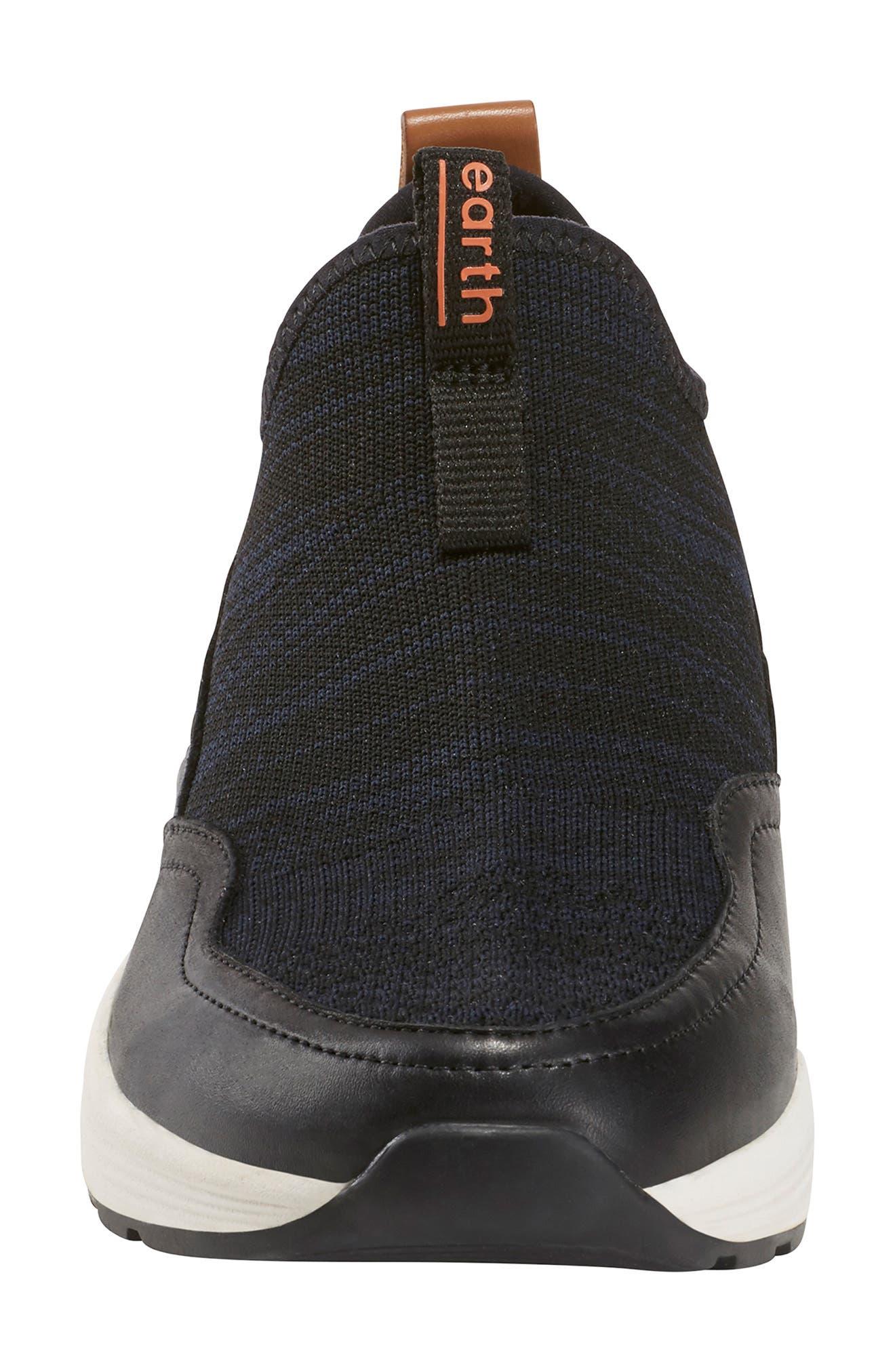 ,                             Ramble Sneaker,                             Alternate thumbnail 4, color,                             BLACK LEATHER