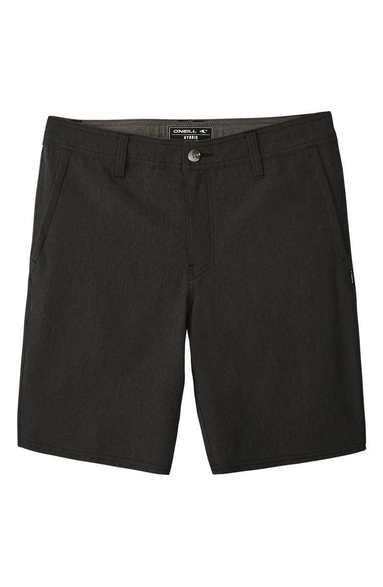 O'NEILL Reserve Heathered Shorts, Main, color, BLACK