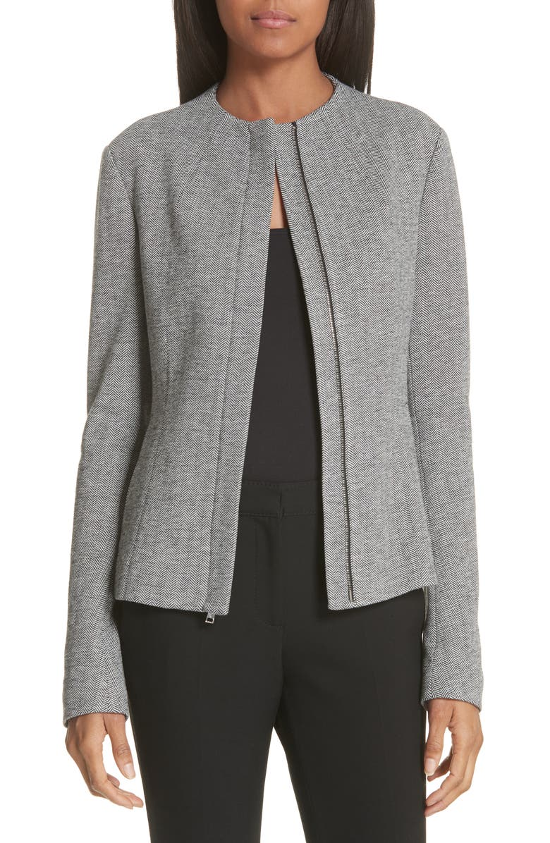 THEORY Sculpted Chevron Jacket, Main, color, 008