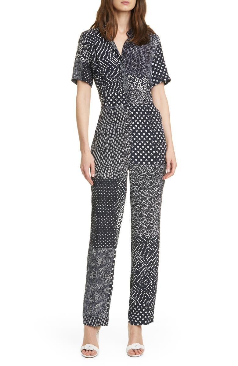 DIANE VON FURSTENBERG Lucy Silk Jumpsuit, Main, color, 480