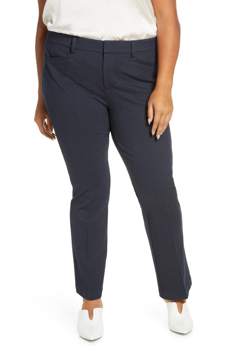LIVERPOOL Harper Bootcut Pants, Main, color, NAVY