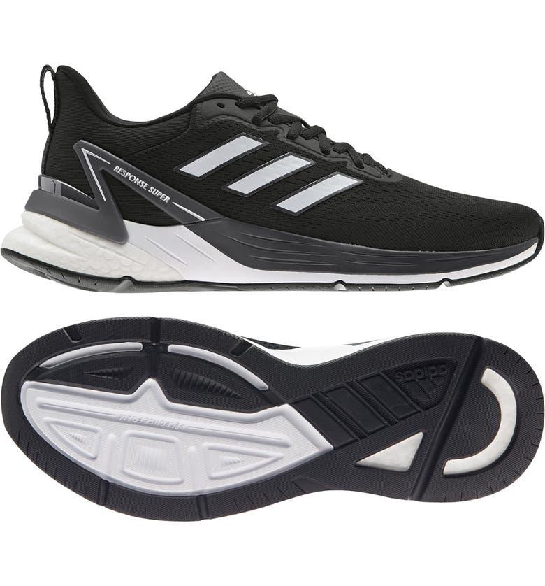 ADIDAS Response Super 2.0 Running Shoe, Main, color, CBLACK/FTW