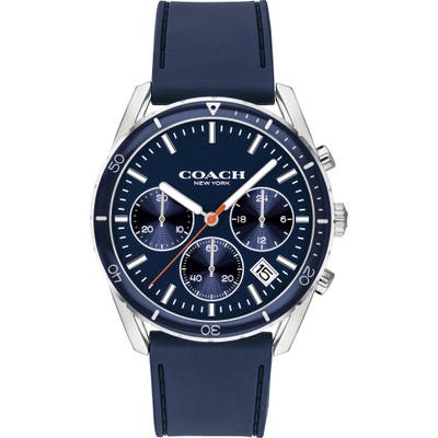 Coach Thompson Sport Chronograph Rubber Strap Watch, 41Mm