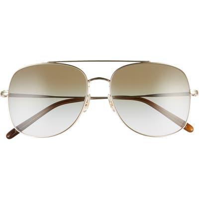 Oliver Peoples Taron 5m Gradient Aviator Sunglasses - Gold/ Green