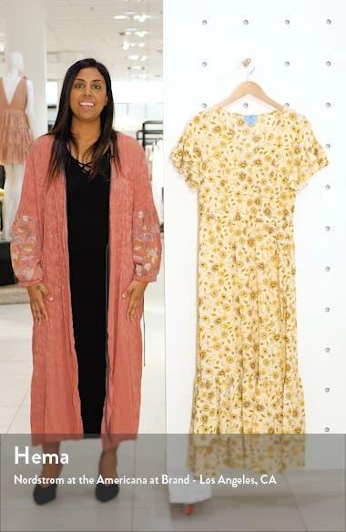 Moroccan Tile Ruffle Trim Maxi Dress, sales video thumbnail